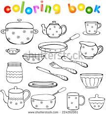 Coloring Pages Kitchen Utensils Coloring Pages Printable