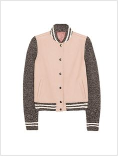 our varsity jacket picks are in - psst this one is just as affordable as it is cute!