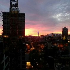 Sunset in Santiago Chili