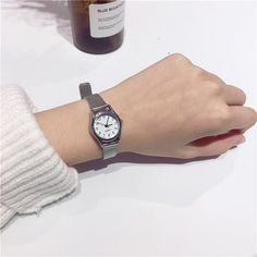 Fashion Quartz Wristwatch Small Round Dial Stainless Steel Strap Watch Casual Jewelry for Women is hot-sale, waterproof watches, bracelet watch, and more other cheap women watches are provided on NewChic. Gold Statement Earrings, Elegant Woman, Fashion Watches, Silver Color, Quartz Watches, Women Jewelry, Bubble Water, Stainless Steel, Watch Women
