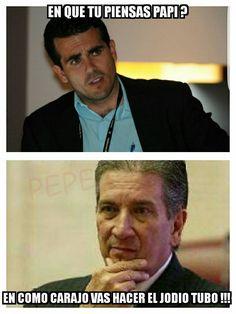 Meme de Ricardo Roselló como gobernador de Puerto Rico