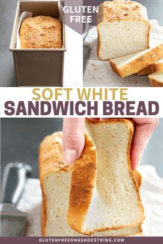 This soft and tender gluten free white sandwich bread bends and squishes and has a lovely bakery-style crust. Crab Recipes, Gf Recipes, Gluten Free Recipes, Fodmap Recipes, Gluten Free Sandwiches, Paleo Sandwich Bread, Gf Bread Recipe, Patisserie Sans Gluten, Pan Sin Gluten