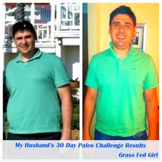 My Husband's 30 Day Paleo Challenge Results