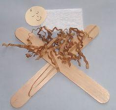 easy baby Jesus in manger craft for kids.
