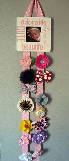 Hair bow holder...plus tons of ideas for different things!  looks like a good blog