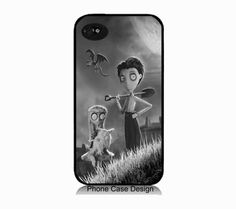 Frankenweenie iphone 5 case tim burton by IphoneDesign on Etsy,