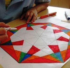 Geometric Designs in Grade Five | Art Lessons For Kids