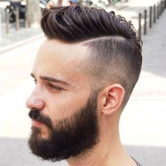 High Skin Fade with a Beard