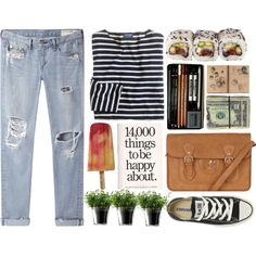 Simple Pleasures by soil-and-sky on Polyvore featuring J.Crew, rag & bone/JEAN, Converse, Oasis and LSA International