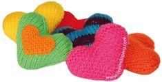Tutorial: corazones tejidos en dos agujas o palitos!!