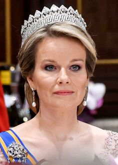 Queen Mathilde wearing the Nine Provinces Tiara