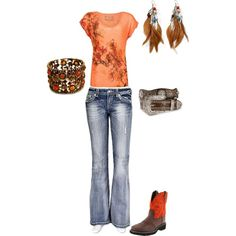 Relaxin in Orange, created by alysha-edwards on Polyvore