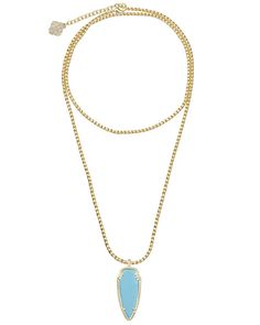 Kendra Scott Shaylee Pendant Necklace in Turquoise