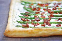 Asparagus,+Goat+Cheese+&+Bacon+Tart