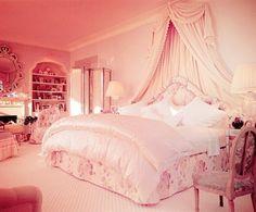 Dream Bedroom Classy Comfy Image 582380 On Favim Com Pink Bedroom Design, Girl Bedroom Designs, Girls Bedroom, Bedroom Decor, Bedroom Ideas, Dream Rooms, Dream Bedroom, Pink Bedrooms, Princess Room