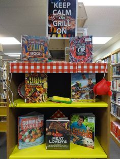 Keep Calm and Grill On  I  Book Display  I  Calvert Library Twin Beaches Branch…