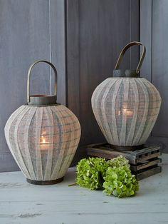 canvas mesh lantern - nordic house