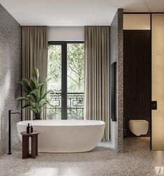 Modern apartment in Berlin - Dezign Ark (Beta) 3d Interior Design, Apartment Interior Design, Bathroom Interior Design, Home Interior, Sketchup Pro, Berlin, 3d Max Vray, Large Bathrooms, 3d Models