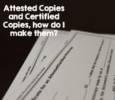 What is an Attested Copy? Florida allows their notaries public to perform attested copies, but  not certified copies, so let's learn the difference today!