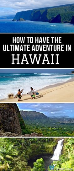 How To Have The Ultimate Adventure In Hawaii. Lava fields, secret waterfalls, huge surf, a unique mix of terrains and even an active volcano, Hawaii is made for an adventure lover. https://www.wanderlustchloe.com/hawaii-adventure-travel/