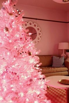 Bright pink Christmas tree