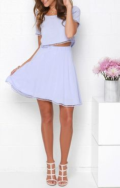 Lovely Com-Beau Lavender Two-Piece Dress