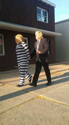 President Trump taking Hillary Clinton to prison.