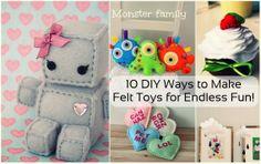 10 DIY Ways to Make Felt Toys for Endless Fun