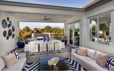 Indoor/outdoor living is a breeze in this home. Entertain year round in this California Room. - Residence Two at Hidden Crossing in Roseville, CA