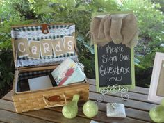 This is my Cards & Gift table. Country Chic