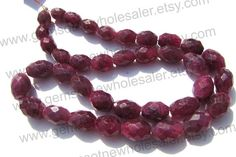 Ruby Color Enhanced Faceted Oval Quality A / by GemstoneWholesaler