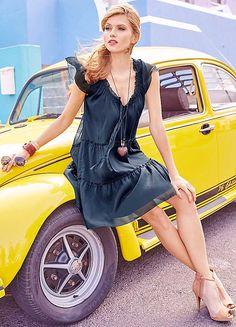 Chiffon Dress by Aniston Holiday Checklist, Chiffon Dress, Summer Dresses, Fashion, Chiffon Gown, Gauze Dress, Moda, Summer Sundresses, La Mode