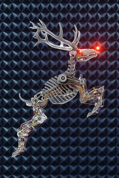 A cyber-reindeer!