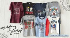 Authentic Vintage T-Shirt Collection #freepeople #vintageloves #vintage