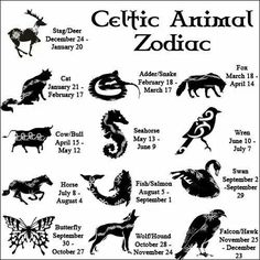 Celtic Animal Zodiac