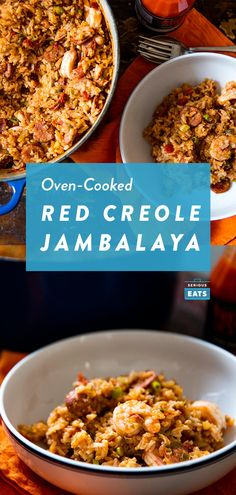 Creole-Style Red Jambalaya With Chicken, Sausage, and Shrimp Recipe - Serious Eats Oven Cooking, Just Cooking, Cooking Recipes, Healthy Recipes, Easy Recipes, Chicken Seasoning, Chicken Sausage, Chicken Meals, Breakfast Recipes