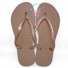 336f86dc239 Rose Gold Thin Strap SWAROVSKI® embellished Havaianas - 1 Row   The Row