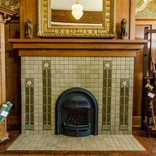 1000 images about artsy and craftsy man on pinterest for Arts and crafts fireplace tile