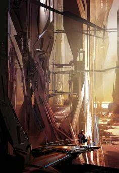 STEPHAN MATINIERE Futuristic Architecture, Futuristic City, Science Fiction Art, Cyberpunk, Sci Fi Fantasy, Sci Fi Art, Environment Concept Art, Environment Design, Apocalypse