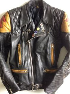 Rare SUZUKI *VTG* Distressed Black CAFE RACER Leather BIKER Jacket 40 LEWIS Era in Clothes, Shoes & Accessories, Men's Clothing, Coats & Jackets | eBay