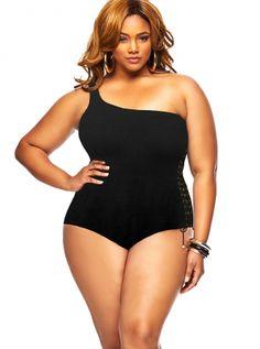 ~eat some peas and cornbread and look fabulous like this~ Monif C. - Plus Size Trendy Swimsuits, Sexy Plus Size Swimwear, Plus Size High Waisted Bikini - Monif C