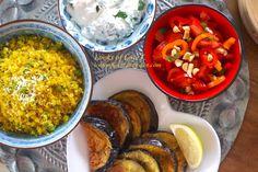 Indisch kochen Rezepte, ohne Gluten und vegetarisch Indian Food Recipes, Ethnic Recipes, Ratatouille, Food Inspiration, Baked Eggplant, India Food, Gluten Free Diet, Veggie Food, Good Food