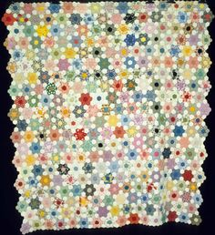 Hexagons; Mosaic; Variation Grandmother's Flower Garden