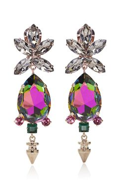 Jeweled Spike Earrings by Mawi for Bruno Magli for Preorder on Moda Operandi