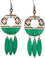 Handcrafted Artisan Earrings, Handmade Artisan Earrings Inspired by Native Indian Jewelry Designs