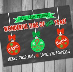 Christmas Pregnancy Announcement Holiday Pregnancy by CLaceyDesign, $15.00