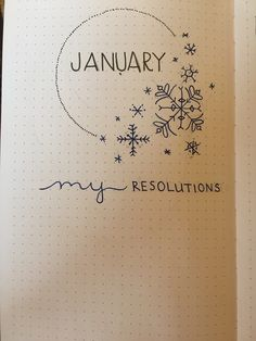 January Intro/ Bullet Journal!