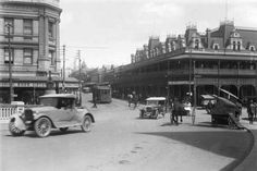 William St and the Royal Hotel from the Horseshoe Bridge, Perth,Western Australia in 1925.