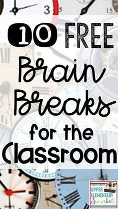12 Free Brain Breaks for the Classroom Students need frequent brain breaks in the classroom for better attention and increased learning! Find 12 FREE Brain Break ideas your students will enjoy in this post. Games For Kids Classroom, 5th Grade Classroom, Classroom Ideas, Music Classroom, Future Classroom, Classroom Organization, Classroom Routines, Classroom Teacher, Classroom Tools