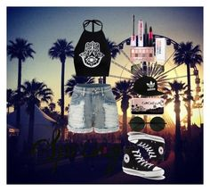 """""""coachella"""" by sheo-fashion on Polyvore featuring LE3NO, Converse, Casetify, adidas Originals, Maybelline and Christian Dior"""